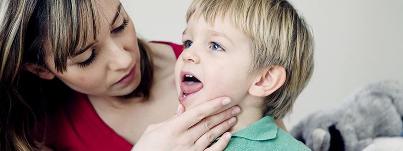 dolor de garganta en ninos